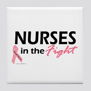 Nurses In The Fight Tile Coaster
