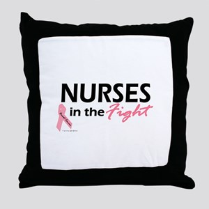 Nurses In The Fight Throw Pillow