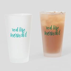 real life mermaid Drinking Glass