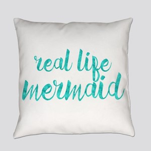 real life mermaid Everyday Pillow
