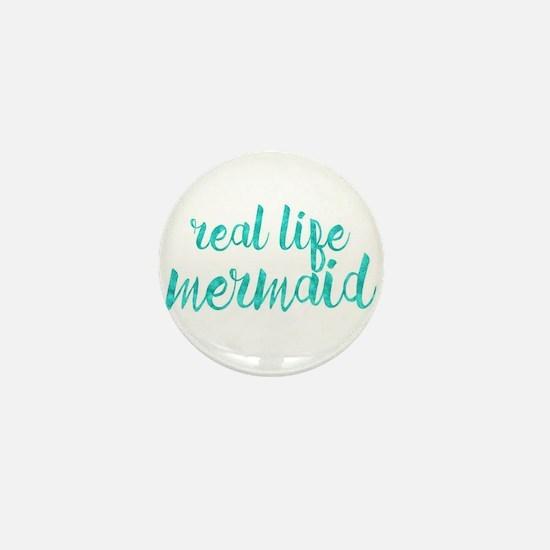 real life mermaid Mini Button