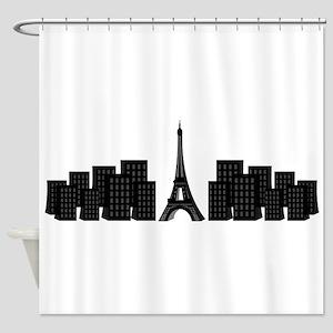 skyline paris Shower Curtain