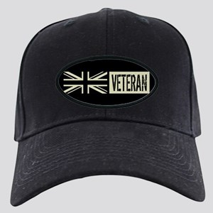 British Military: Veteran (Black Flag) Black Cap
