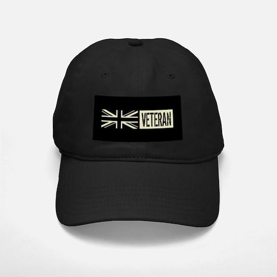 British Military: Veteran (Black Flag) Baseball Hat