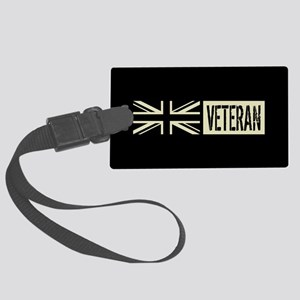 British Military: Veteran (Black Large Luggage Tag