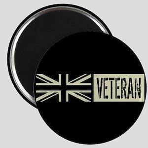 British Military: Veteran (Black Flag) Magnet