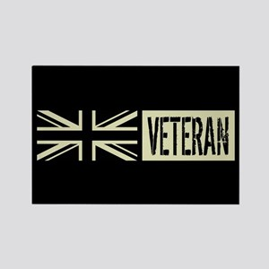 British Military: Veteran (Black Rectangle Magnet