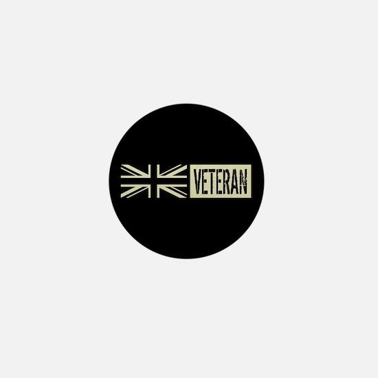 British Military: Veteran (Black Flag) Mini Button