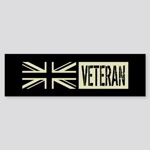 British Military: Veteran (Black Sticker (Bumper)
