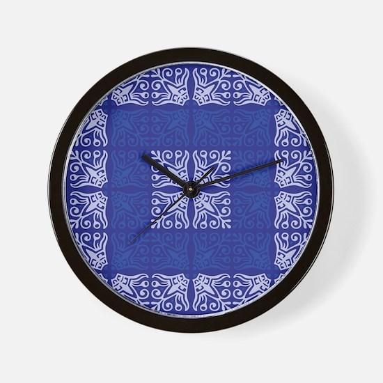 Blue Bandanna II Wall Clock