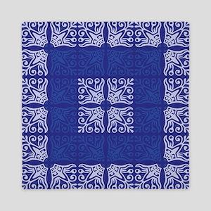 Blue Bandanna II Queen Duvet