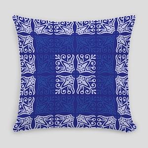 Blue Bandanna II Everyday Pillow