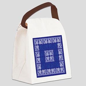 Blue Bandanna II Canvas Lunch Bag