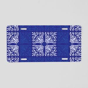 Blue Bandanna II Aluminum License Plate
