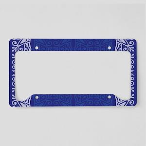 Blue Bandanna II License Plate Holder