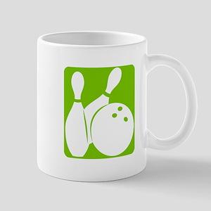 Olive Bowling ball & pins Mugs