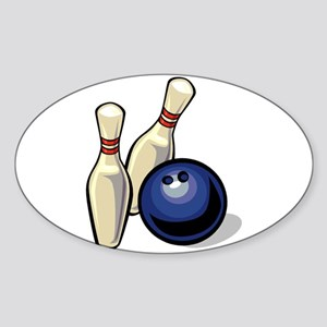 Bowling ball with pins Sticker