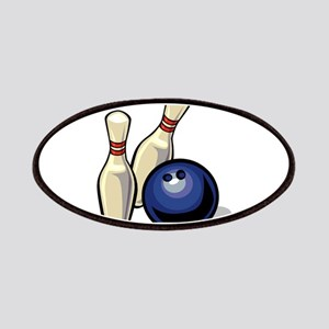 Bowling ball with pins Patch