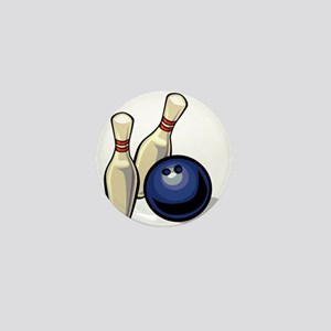 Bowling ball with pins Mini Button