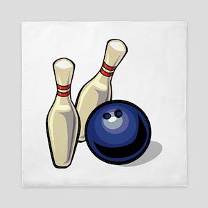 Bowling ball with pins Queen Duvet