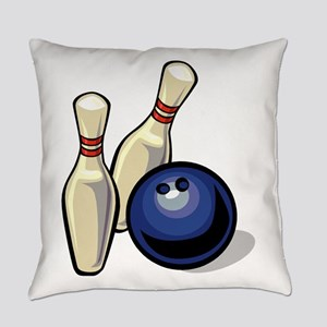 Bowling ball with pins Everyday Pillow