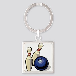 Bowling ball with pins Keychains