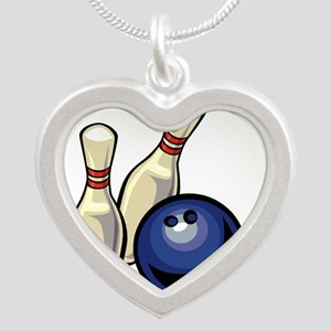 Bowling ball with pins Necklaces