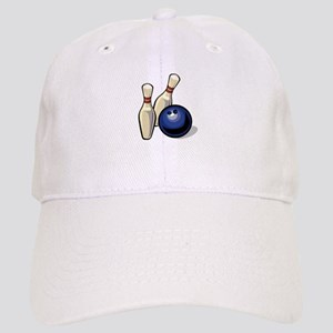 Bowling ball with pins Baseball Cap