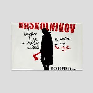 Raskolnikov. Crime and Punishment T-Shirt Magnets