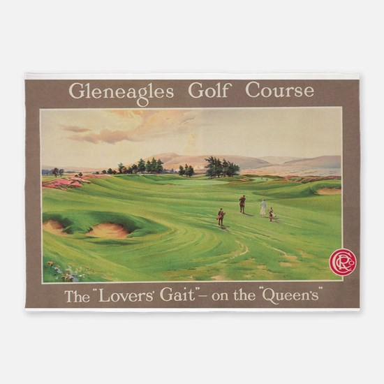 Gleneagles Golf Club, Scotland; Vin 5'x7'Area Rug