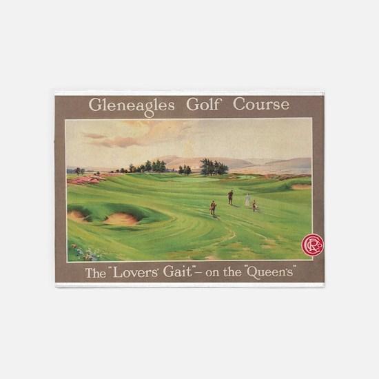 Gleneagles Golf Club Scotland Vin 5 X7 Area Rug