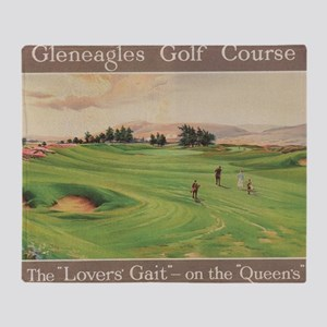 Gleneagles Golf Club, Scotland; Vint Throw Blanket