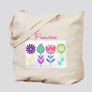 Personalized Spring Flowers Tote Bag