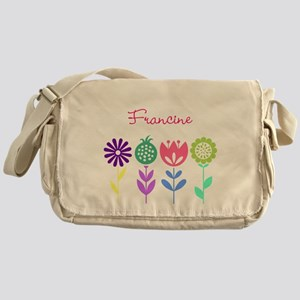 Personalized Spring Flowers Messenger Bag