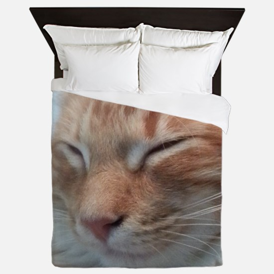 Orange Tabby Cat Queen Duvet