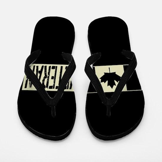Canadian Military: Veteran (Black Flag) Flip Flops