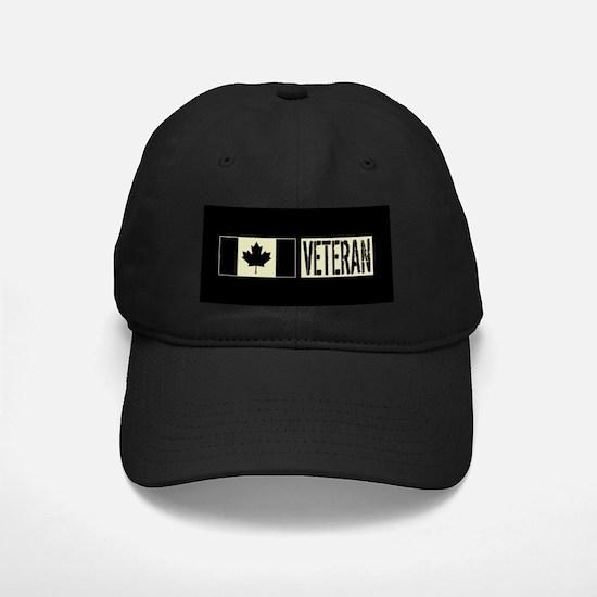 Canadian Military: Veteran (Black Flag) Baseball Hat