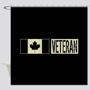 Canadian Military: Veteran (Black F Shower Curtain