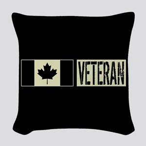 Canadian Military: Veteran (Bl Woven Throw Pillow