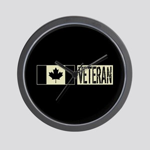 Canadian Military: Veteran (Black Flag) Wall Clock
