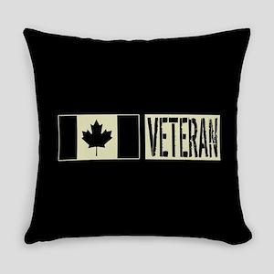 Canadian Military: Veteran (Black Everyday Pillow