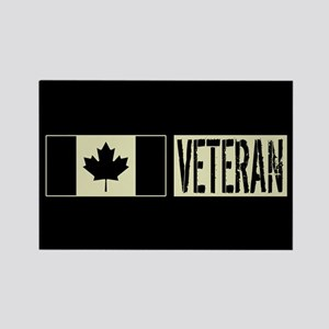 Canadian Military: Veteran (Black Rectangle Magnet