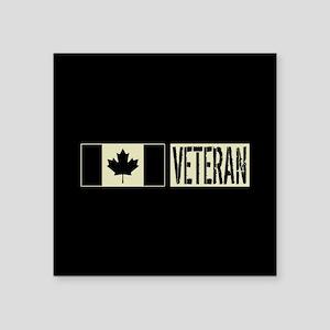 "Canadian Military: Veteran Square Sticker 3"" x 3"""