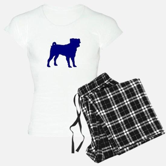 Pug Blue 1 Pajamas