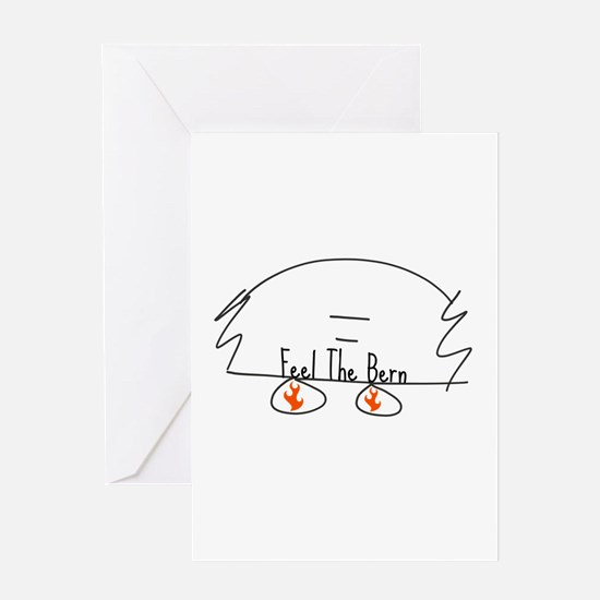 Feel the Bern Greeting Cards