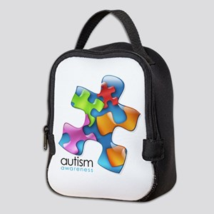 puzzle-v2-5colors Neoprene Lunch Bag