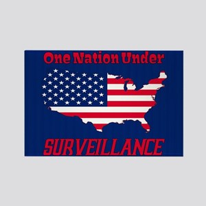 One Nation Under Surveillance Rectangle Magnets