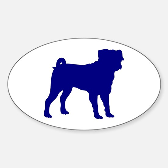 Pug Blue 1C Decal