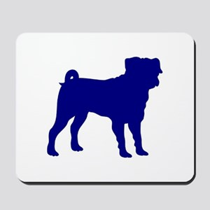 Pug Blue 1C Mousepad