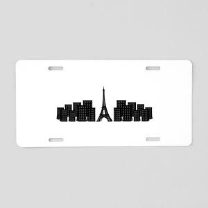 skyline paris Aluminum License Plate